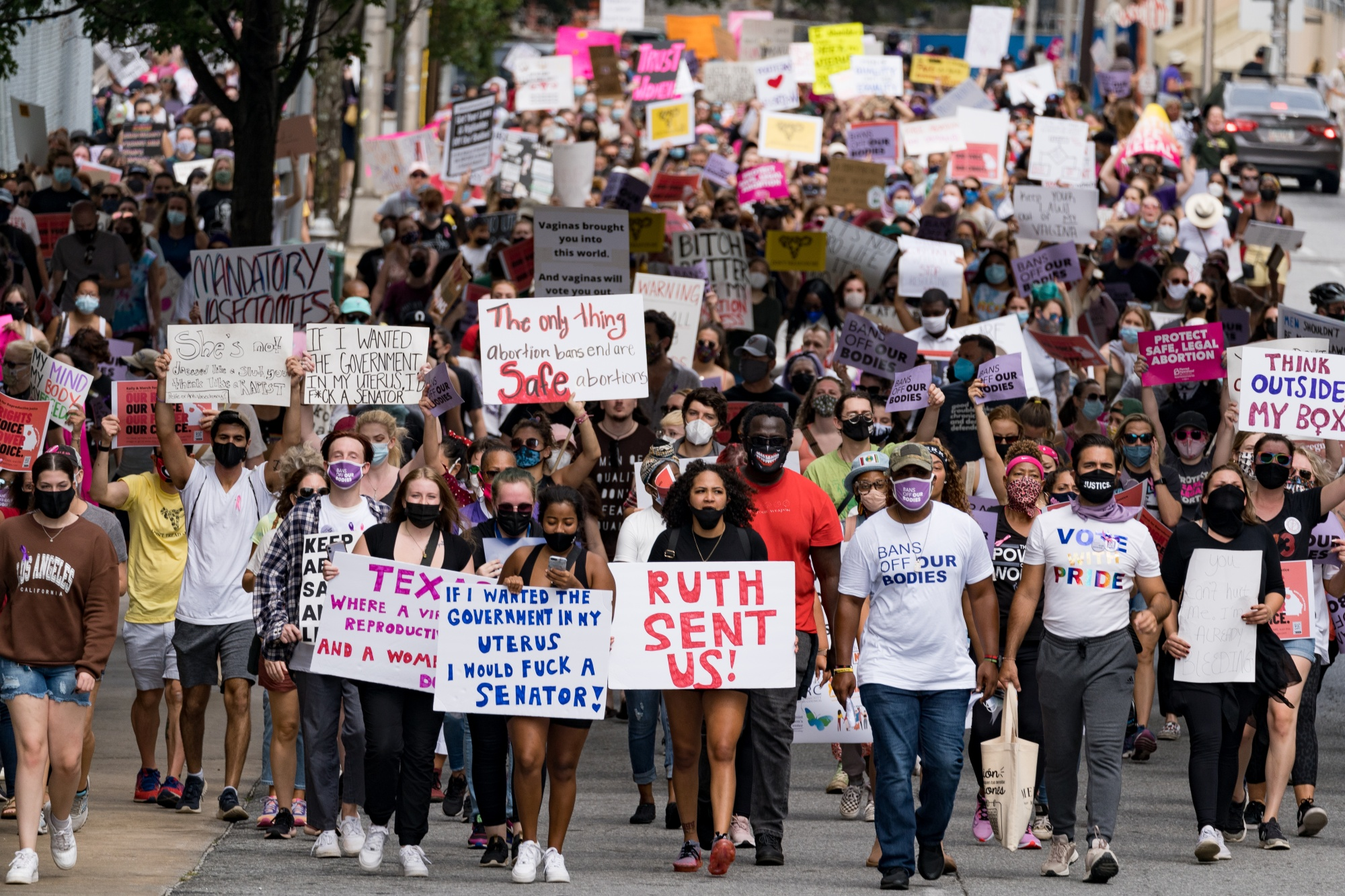 Women's March: Thousands Rally For Abortion Rights Across U.S. Cities
