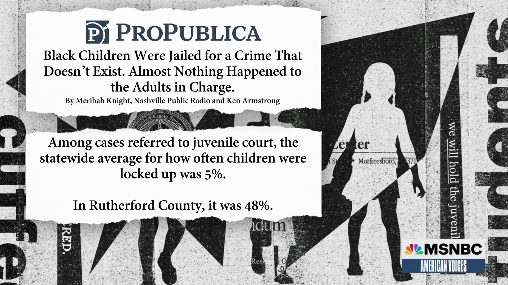 New report shows Rutherford County, Tennessee's juvenile justice system has a staggering history of jailing children